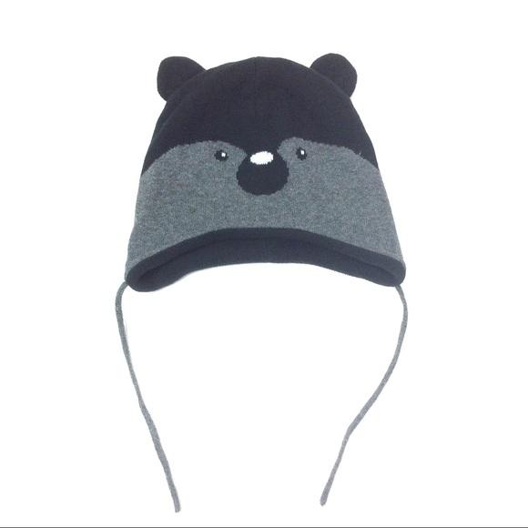 20939cbba H&M 1-2yr 12-24 months Koala Black Gray Beanie Hat